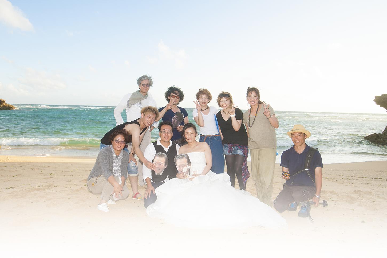 浜辺の結婚式「波の音と夕日と三線と」